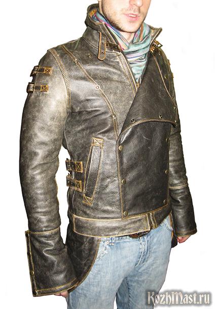 итальянски зимние мужские кожаные куртки с мехом.